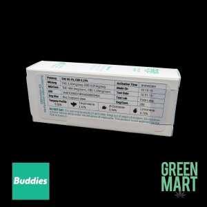 Buddies Brand Distillate Cartridges - Game Changer Back
