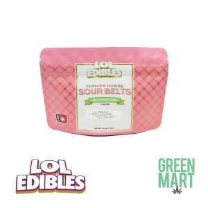 LOL Edibles Watermelon Sour Belts Front