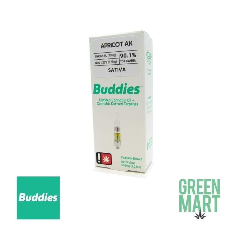 Buddies Brand Distillate Cartridge - Apricot AK