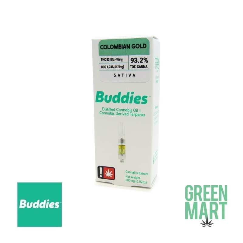 Buddies Brand Distillate Cartridge - Colombian Gold