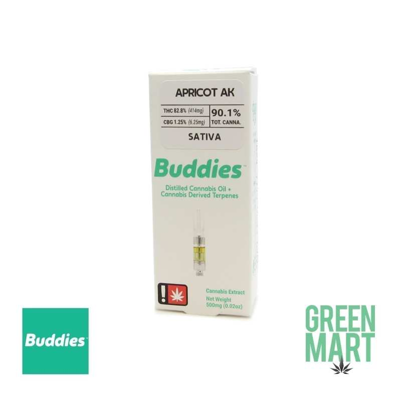Buddies Brand Distillate Cartridge - Apricot AK