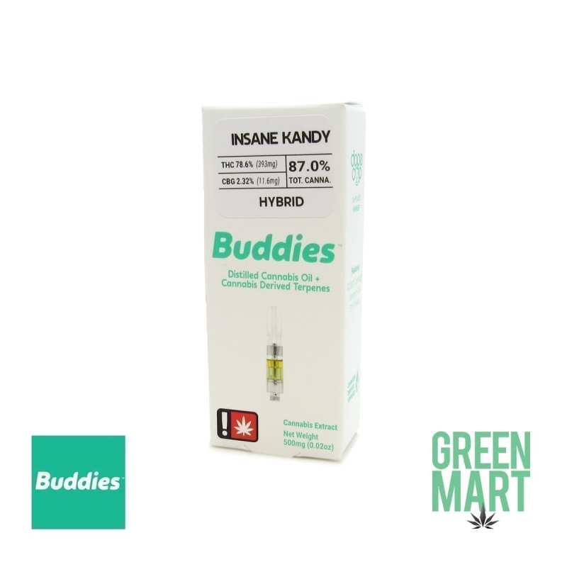 Buddies Brand Distillate Cartridge - Insane Kandy
