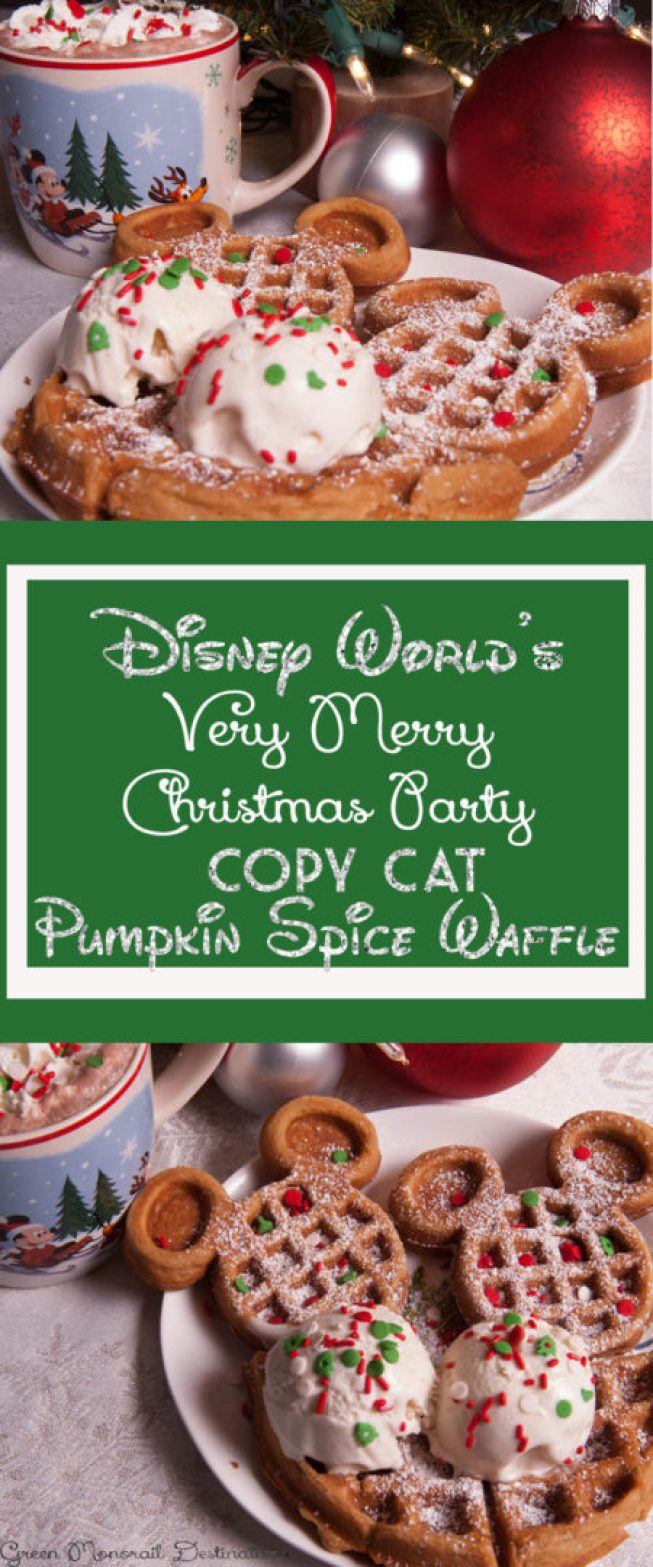 Disney World Christmas Party Waffle