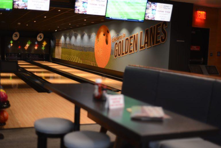 Splitsville Bowling Alley in Downtown Disney