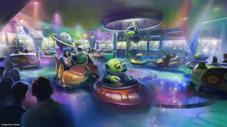 Alien Swirling Saucers Toy Story Land Disney World