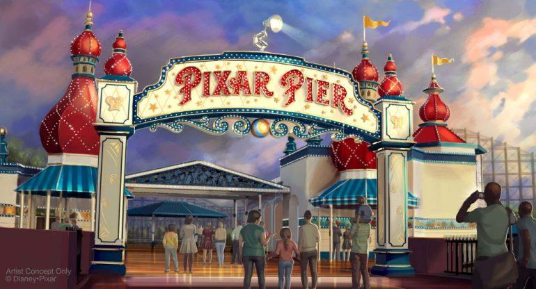 Pixar Pier California Adventure Disneyland Paradise Pier
