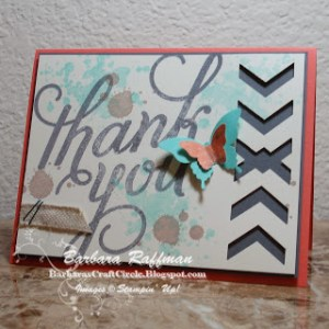 Another Thank You – Chevron Criss-Cross Card