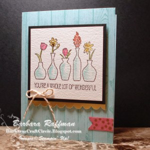 Vivid Vases Watercolor Card