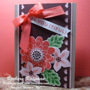 BE YOU {TIFUL} – Flower Patch Card