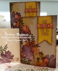 For All Things Fall Card – Collage of Leaves