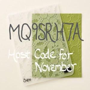 My November Host Code Special