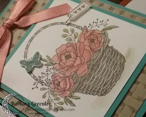 This is a close up of my Blossoming Basket card.