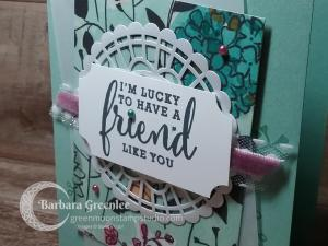 Close up of the Friend Card.
