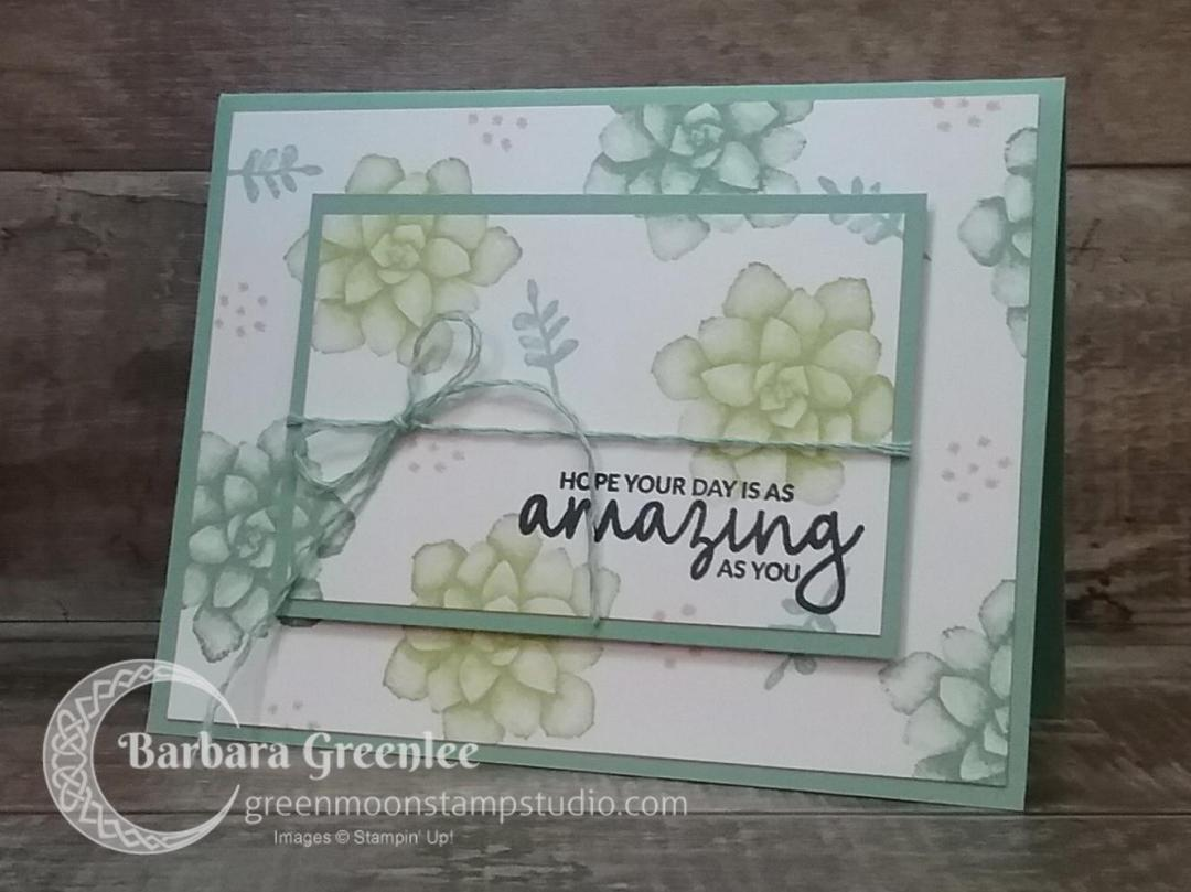 Painted Seasons stamp set using the double time stamping technique.