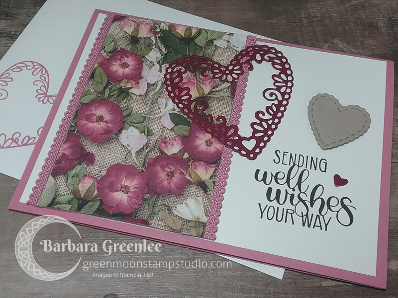 Pressed Petals Design Specialty paper is featured on this Get Well card.