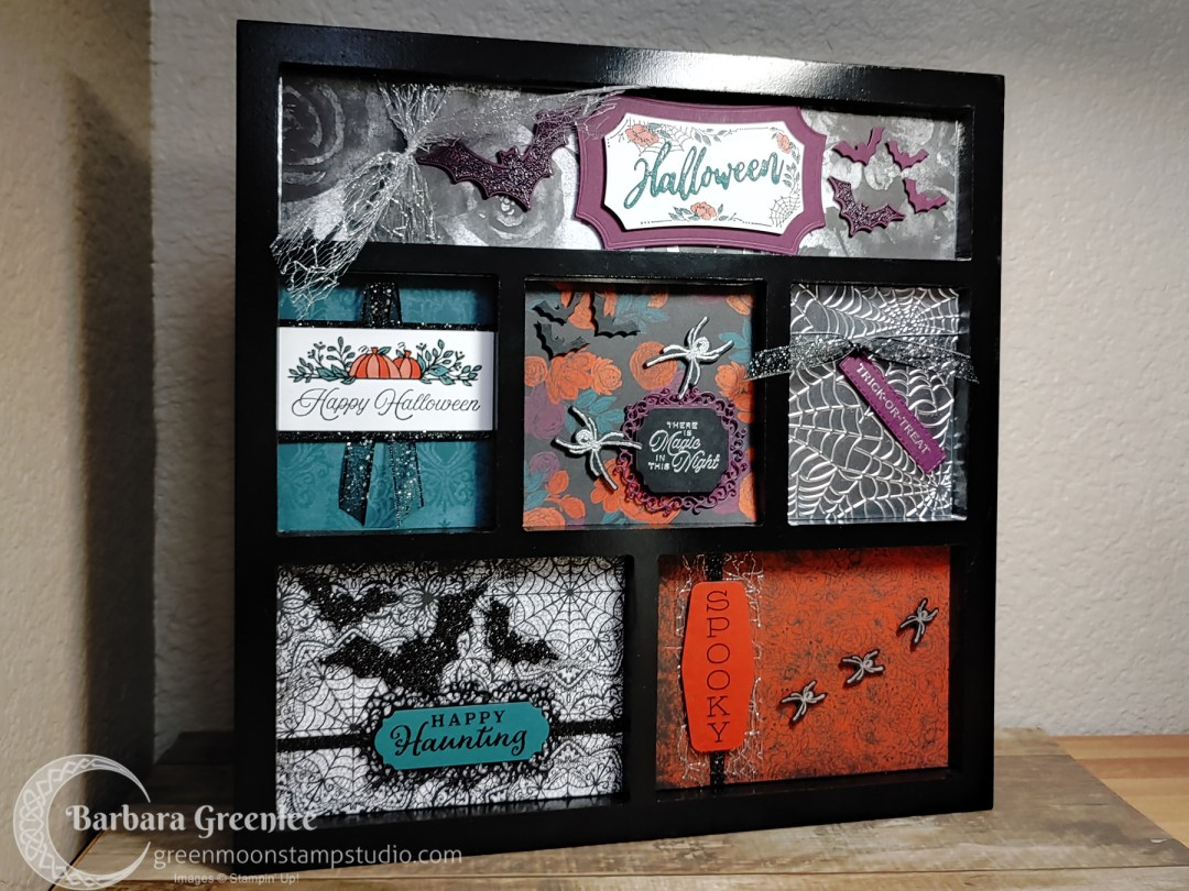Halloween Framed Shadow Box Sampler