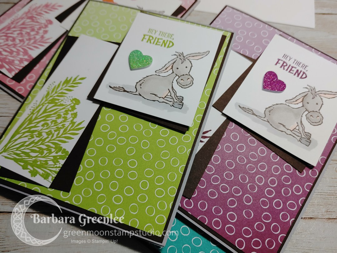 Darling Donkeys set of 4 cards.