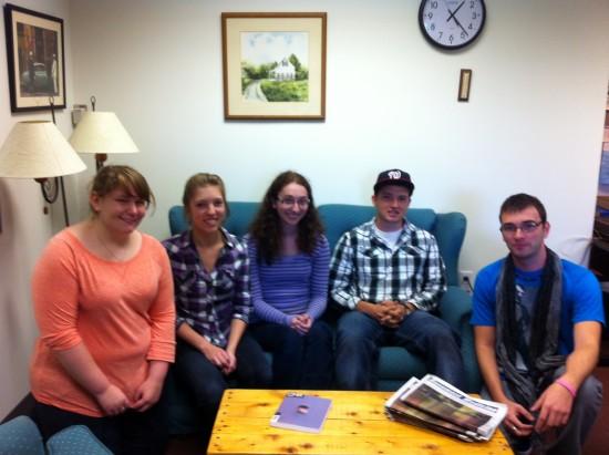 From left: Ashely Josselyn, Ashley Clinger, Samantha Fox, Andrew Gardiner, and Derrick Spaulding