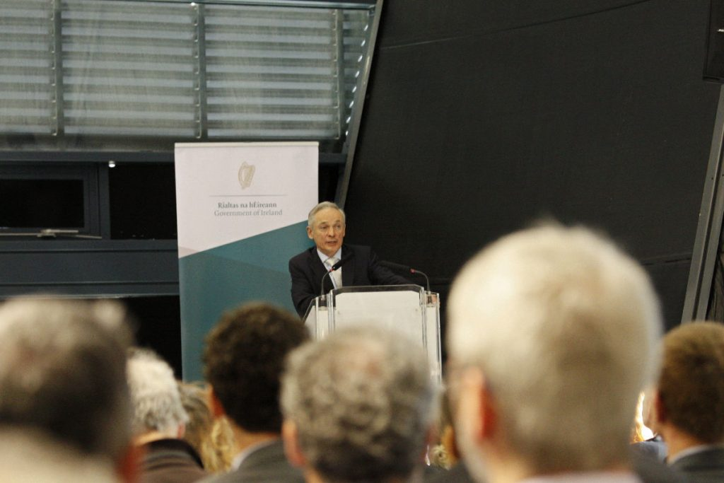 Minister for Climate Action Richard Bruton at stakeholder meeting Photo: Niall Sargent