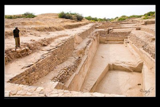 The ruins of the Harappan civilization site in Dholavira, Kutch