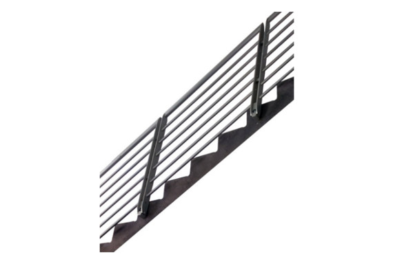 horizontal stair railing