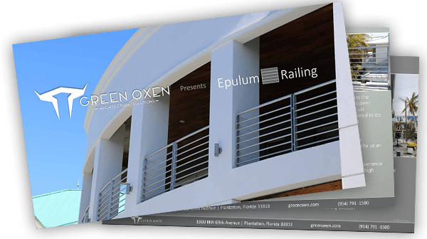 Green Oxen aluminum railing brochure