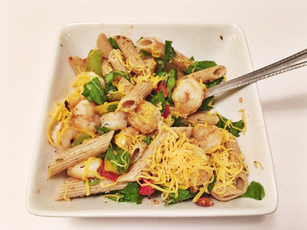 Light Cheesy Shrimp Pasta - 21 Day Fix Approved