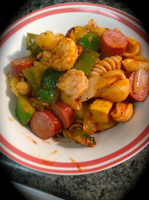 Grilled Shrimp Pasta