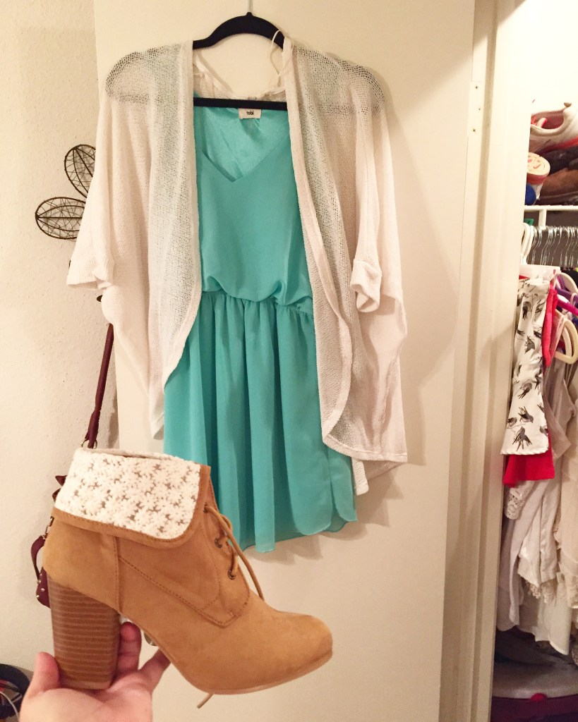 Dresses with booties