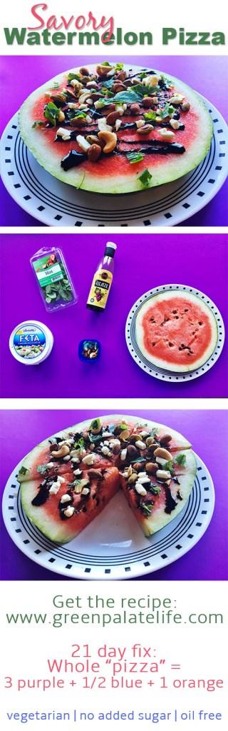 Savory Watermelon Pizza