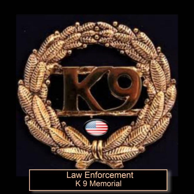 law enforcement k 9 memorial picture