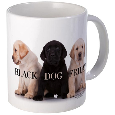 Black Dog Friday Coffee Mug Large