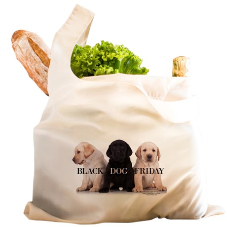 BLACK DOG FRIDAY HEAVY CLOTH SHOPPING BAG