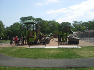 The park has this playground, and with the exception of shade, it is awesome
