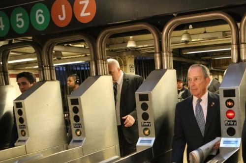 mayor mike on subway