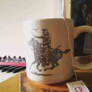 Courtesy of Abby Payne. Practicing for the release show while drinking tea from one of her favorite mugs. The mug was given to her by friend and dancer Chelsea Retzloff.