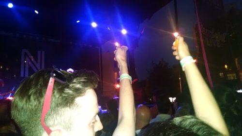 "Fans light up during ""Indian Summer."""