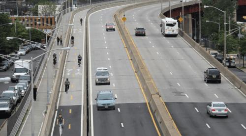 Pulaski Bridge Bike Lane