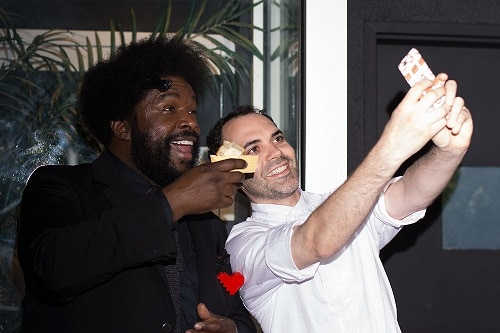 QuestLove and Dominque Ansel at Dessert Party Selfie 500