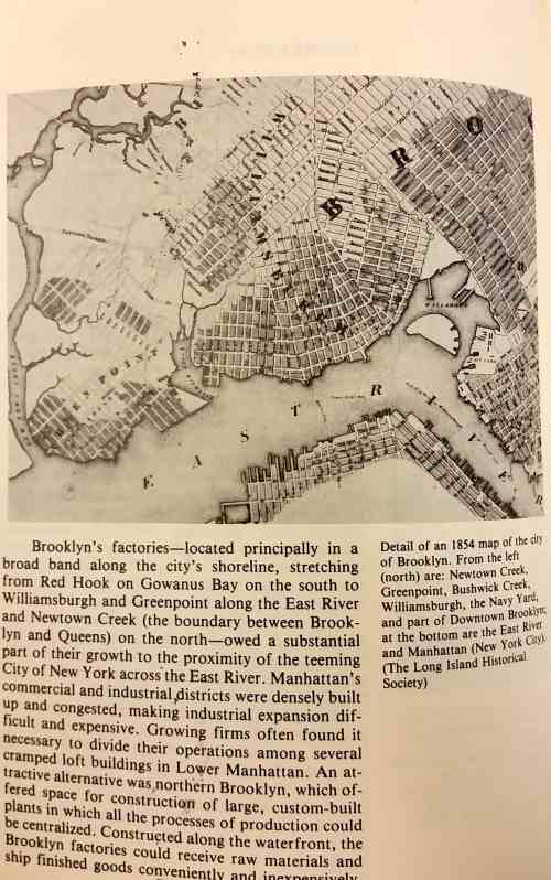 """1854 map of Brooklyn's factories:  """"Factories, Foundries and Refineries: A History of Brooklyn's Industries"""""""