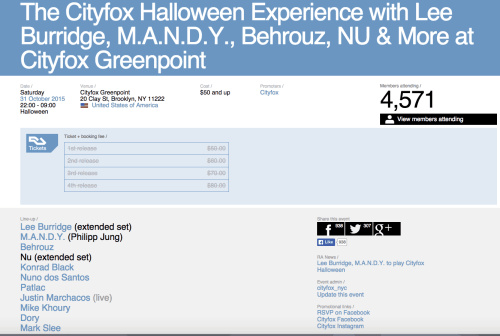 The Resident Advisor website shows over 4,500 tickets were sold for the Superfund dance party. Source: residentadvisor.com