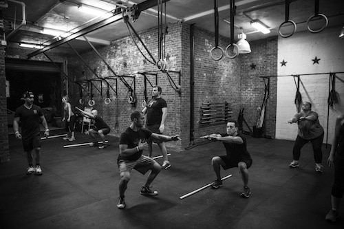 You'll sweat so hard you'll stop seeing color. Photo: CrossFit South Williamsburg