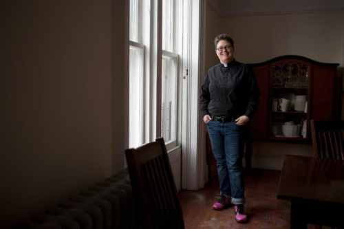 Greenpointer and holder of many other titles Rev. Ann Kansfield. Photo: Kirsten Luce via The New York Times