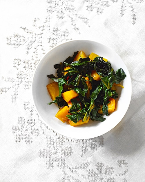 Roasted Golden Beets with Sautéed Greens