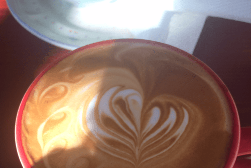 Latte at Verb Cafe Greenpoint