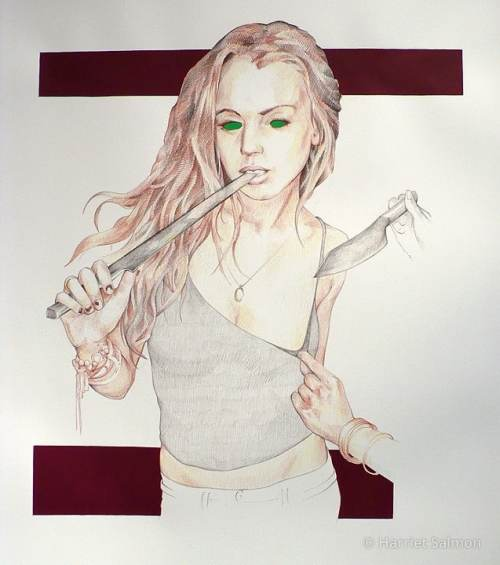 Lindsay Lohan by Harriet Salmon