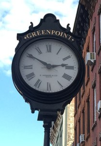 Greenpoint Sidewalk Clock