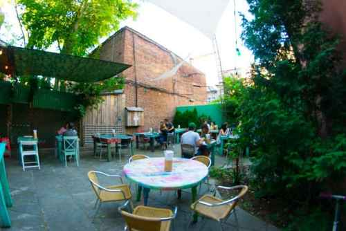 Back courtyard at Baoburg's new home in Greenpoint