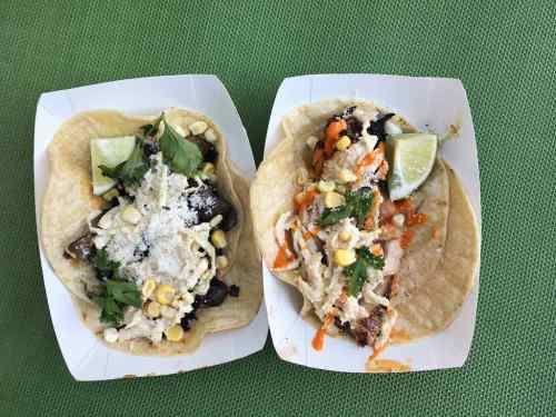 The Portabella and Chicken tacos