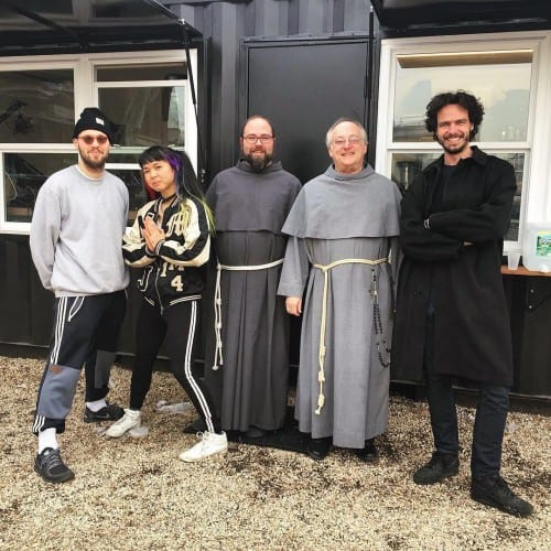 Brother Nick and Father Raphael with The Lot Radio DJs